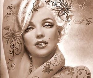 blond, female, and marilyn moroe image