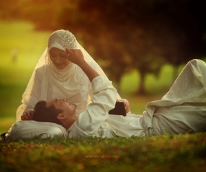 bride, cute, and couple image