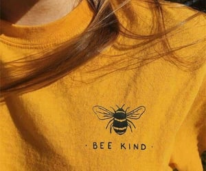 aesthetic, yellow, and be kind image