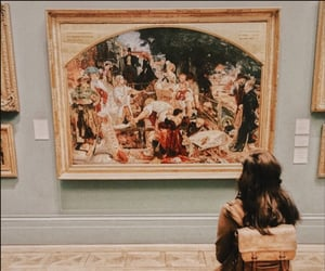 art gallery, painting, and dark academia aesthetic image