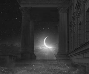 aesthetic, grey, and moon image