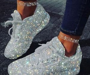 glitter, shoes, and beauty image