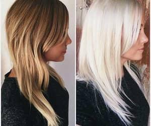 cabelo loiro, cabelo platinado, and cabelo branco image