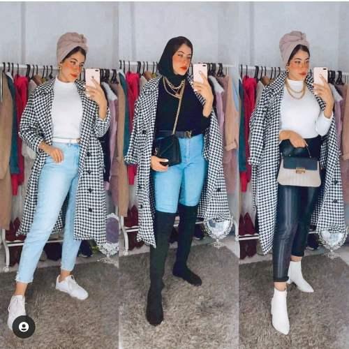 hijab and checked blazer image