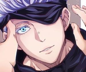 anime, blue eyes, and pretty boy image