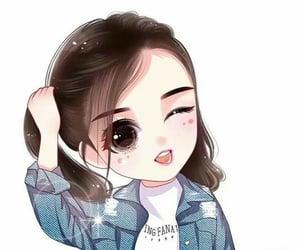 art, cute girl, and girly image