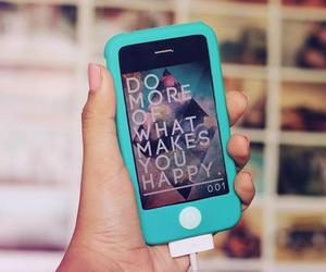 iphone, girl, and happy image