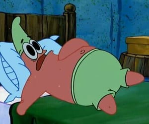 bed, bob esponja, and humor image