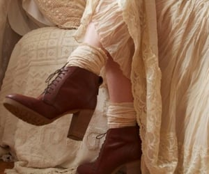 boots, dress, and vintage image