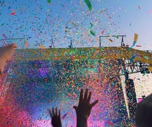 colourful, confetti, and festival image