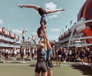 cheerleader, flexibility, and handstand image