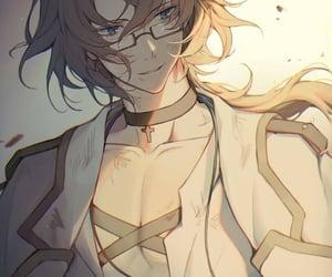 art, boy with glasses, and manga image
