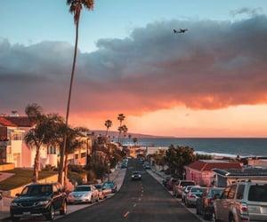girl, sea, and california image