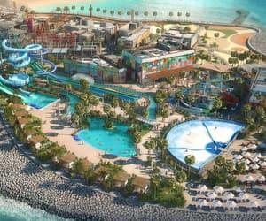 amusement park, Dubai, and water park image
