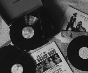 aesthetic, blackandwhite, and records image
