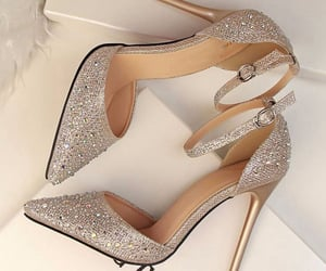 fashion, gold, and highheels image