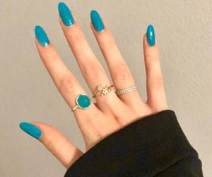 blue, girl things, and hand image