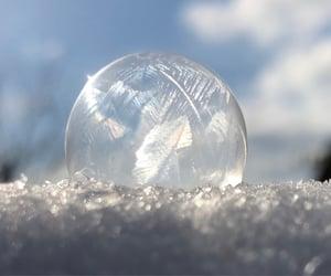 frozen, soap bubble, and winter image