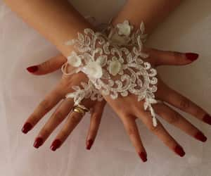 etsy, weddings, and bridal gloves image