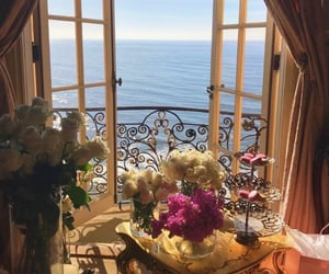 aesthetic, sea, and flowers image