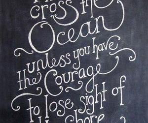 courage, ocean, and quote image