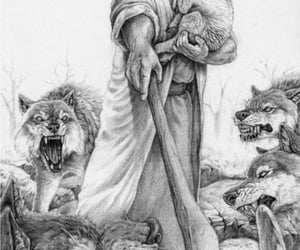 art, god, and jesus image