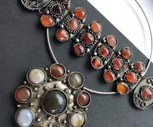 etsy, stone bracelet, and agate necklace image