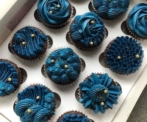 cupcake, blue, and cake image