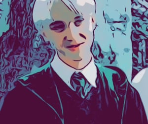 draco malfoy, filter, and harry potter image