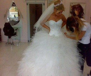 barbie, dress, and wedding image