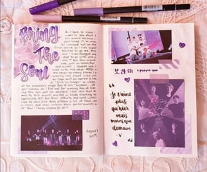 journal, stationery, and bts image