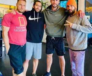 jake gyllenhaal, jared leto, and liam hemsworth image