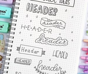 bullet journal, note, and notes image