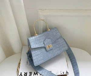 bag, blue, and luxury image