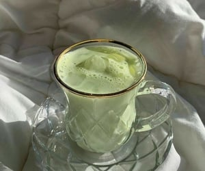 green, drink, and tea image