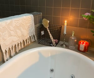 candle, spa, and tub image