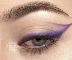 blue eyes, eyebrows, and eyeliner image