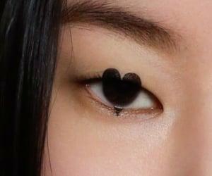 black eyes, eyes, and fashion image