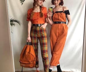 brown, doc martens, and overalls image