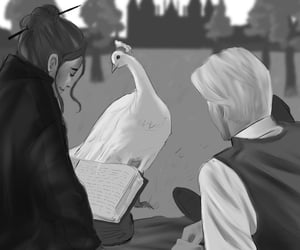 book, draco malfoy, and fan art image
