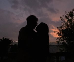 boyfriend, clouds, and couple image