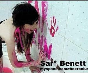 myspace, pink, and scene image