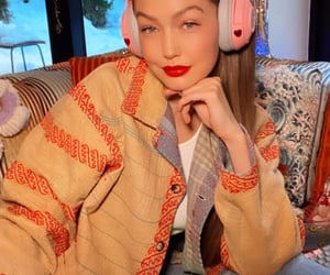 beautiful, headphones, and magazine image