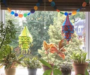 indian decoration, home decoration idea, and lampshdes image