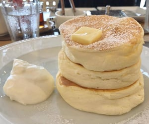 breakfast, japanese food, and fluffy pancakes image