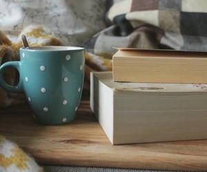 books, coffee, and كُتُب image