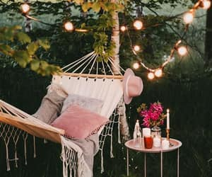 lights, outdoor living, and outdoors image