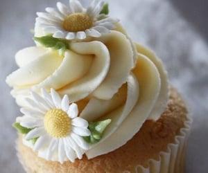 cupcake, cake, and daisy image