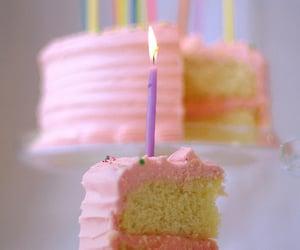 birthday cake, food, and sweet image