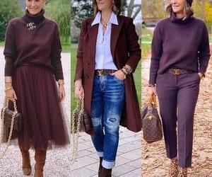 maroon jacket and maroon sweater image